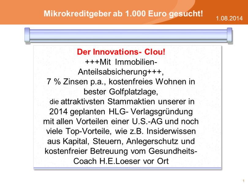Der Innovations- Clou!