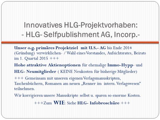 HLG-Projekt- Ziele 2014-2015